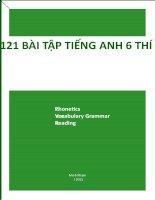 121 bài tập tiếng anh thí điểm lớp 6 (có đáp án)
