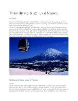 Du lịch nhật bản thiên đường trượt tuyết niseko