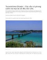 Du lịch nhật bản cầu tsunoshima