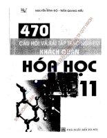 470 câu hỏi trắc nghiệm hóa học lớp 11