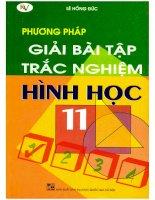 Phương pháp giải bài tập trắc nghiệm hình học 11 (NXB Đại học quốc gia 2007) -Lê Hồng Đức