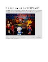 Du lịch nhật bản bảo tàng của tuổi thơ doraemon