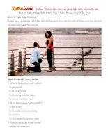Luyện nghe tiếng Anh trình độ cơ bản: Proposing (Cầu hôn)