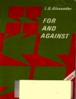 For and Against by L.G Alexander