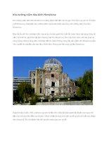Du lịch nhật bản khu tưởng niệm hòa bình hiroshima