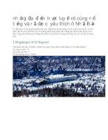 Du lịch nhật bản những địa điểm trượt tuyết  nổi tiếng và rất được yêu thích ở nhật bản