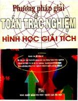 04 phuong phap giai toan trac nghiem hinh hoc giai tich (NXB dai hoc quoc gia 2007)   tran ba ha, 279 trang