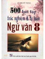 500 bài tập tự luận và trắc nghiệm ngữ văn 8 phần 1
