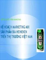 tổng hợp 6 bài marketing mix các thương hiệu heineken, trà atiso, mì hảo hảo, sữa chua, khăn giấy pulppy