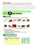 Bài tập tiếng Anh lớp 6 Chương trình mới Unit 3: My Friends