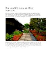 Du lịch nhật bản bảo tàng nhà máy rượu sake hakutsuru