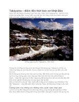 Du lịch nhật bản điểm tham quan takayama