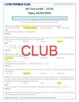 Test CLUB   lần 2   năm 2016   solve
