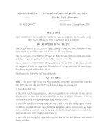 Quyết định 3690/QĐ-BCT về quy hoạch phát triển ngành bia, rượu, nước giải khát Việt Nam đến năm 2025