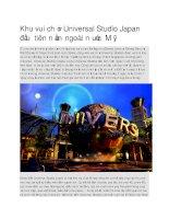 Du lịch nhật bản khu vui chơi universal studio japan đầu tiên
