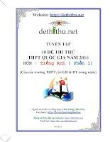 Tuyển tập bộ đề thi thử tiếng anh THPT chuyên Vinh có đáp án năm 2016.