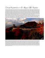 Du lịch nhật bản chùa kiyomizu nổi tiếng cố đô kyoto