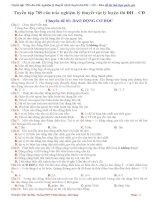 Tuyển tập 789 câu trắc nghiệm lý thuyết vật lý luyện thi THPT quốc gia