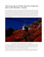 Du lịch nhật bản tham quan dãy núi thiêng tateyama và đập thủy điện to nhất nhật bản