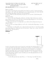 Đề thi (đề xuất) trại hè hùng vương lần thứ XII năm 2016 môn vật lý 10 trường chuyên lê quý đôn điện biên