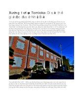 Du lịch nhật bản xưởng tơ lụa tomioka