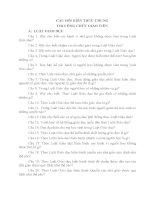HỆ THỐNG CÂU HỎI KIẾN THỨC CHUNG