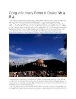 Du lịch nhật bản công viên harry potter ở osaka nhật bản
