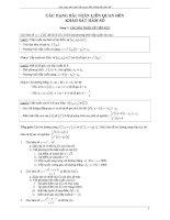Các dạng toán liên quan tới khảo sát hàm số   giải tích 12