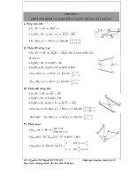 Các dạng toán hình học 11   hình học   nguyễn chí thành