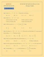 Đề thi thử THPT quốc gia 2017 môn toán lần 2   Mẫn Ngọc Quang