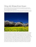 Du lịch nhật bản công viên showa kinen kouen