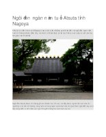 Du lịch nhật bản ngôi đền ngàn năm tuổi atsuta tỉnh nagoya