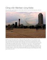 Du lịch nhật bản công viên meriken vùng kobe
