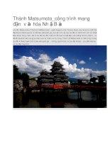 Du lịch nhật bản thành matsumoto