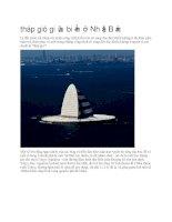 Du lịch nhật bản tháp gió giữa biển ở nhật bản