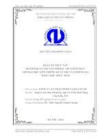 Báo cáo QTVP tại Công ty Cổ phần Phân Phối và Bán Lẻ BT