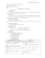 Giáo án môn Hóa học lớp 11 kì 1
