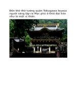 Du lịch nhật bản đền thờ thờ tướng quân tokugawa ieyasu