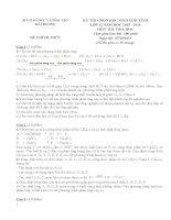 Tuyển tập đề thi học sinh giỏi môn hóa lớp 12 (có hướng dẫn chấm chi tiết)
