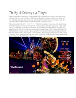 Du lịch nhật bản thế giới disney tại tokyo