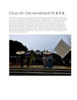 Du lịch nhật bản công viên edo wonderland nhật bản
