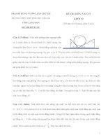 Đề thi (đề xuất) trại hè hùng vương lần thứ XII năm 2016 môn vật lý 10 trường chuyên CHU văn AN LẠNG sơn