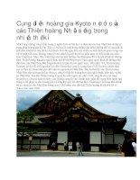 Cung điện hoàng gia kyoto nhật bản