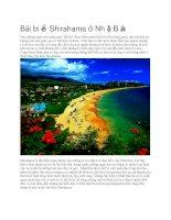 Du lịch nhật bản bãi biển shirahama ở nhật bản