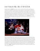 Giới thiệu kịch kabuki độc đáo ở nhật bản