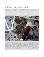Văn hóa tiền lẻ ở nhật bản