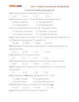 50 câu hỏi trắc nghiệm chương nguyên tử