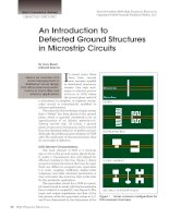 An introduction to defected ground structures in microst