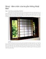 Giới thiệu shoji tấm chắn cửa truyền thống của nhật