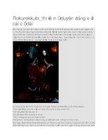 Ma cổ dài rokurokkubi trong văn hóa nhật bản